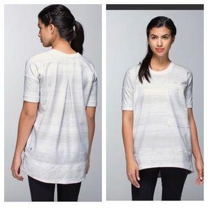 Lululemon Mudra Sweatshirt Stripe White 6 RARE